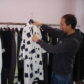 Бирюков предпочитает работать с черным и белым цветами.