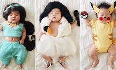 То Жасмин, то Русалочка: младенец в милейшем фотопроекте