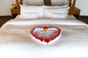 Полотенца с сердечками