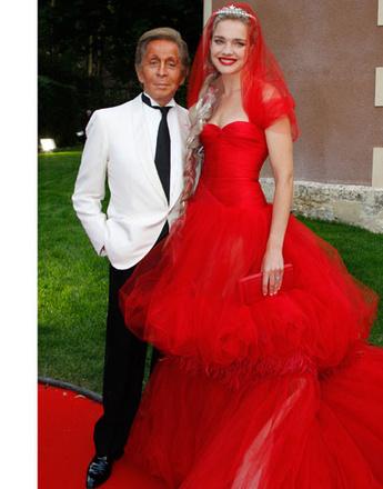 Наталья Водянова (Natalia Vodianova) и Валентино Гаравани (Valentino Garavani)