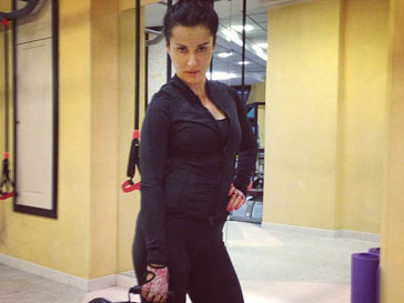 Тина Канделаки будет тренироваться с сумкой песка?