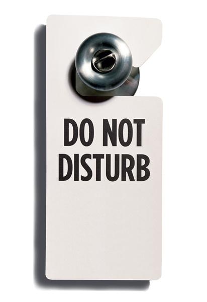 Идея 4: табличка «Не беспокоить»