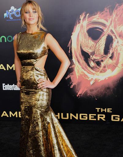 """Дженнифер Лоуренс (Jennifer Lawrence) на мировой премьере """"Голодных игр"""""""