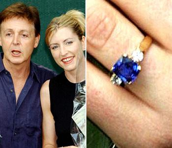 Теперь уже бывшая жена Пола Маккартни могла похвастаться исключительной красоты бриллиантовым кольцом с сапфиром в центре. Но она им явно не дорожила - Хизер регулярно теряла кольцо.