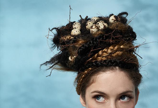 Фото прически гнездо