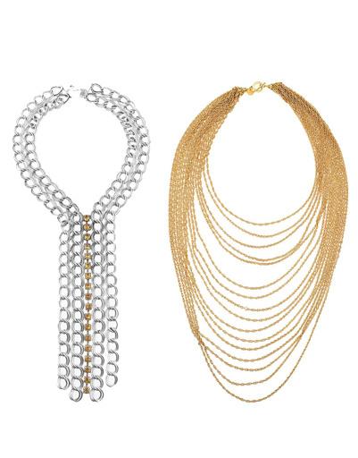 Серебристое ожерелье DAY Birger et Mikkelsen, золотистое ожерелье Philippe Audibert