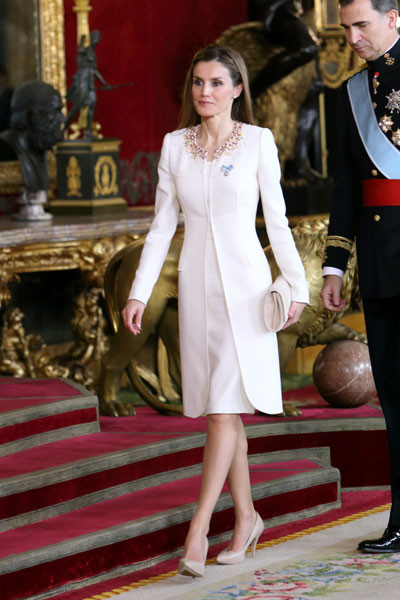 Принцесса Летиция на коронации принца Фелипе IV
