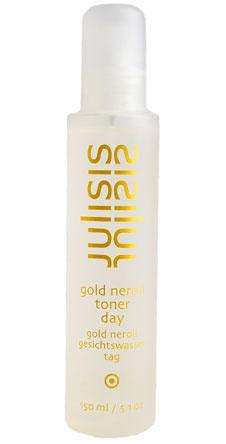 Тоник с золотой эссенцией. Gold neroli Toner Day, Julisis. Освежает, оживляет и придает сияние коже лица .