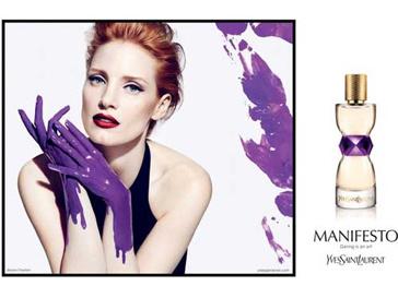 Реклама аромата Manifesto от Yves Saint Laurent с Джессикой Честейн.
