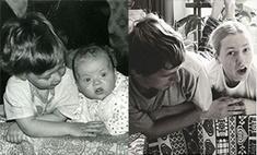 Брат и сестра повторили детские фото через 20 лет