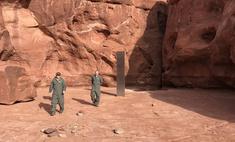 В американском каньоне нашли огромный металлический столб: никто не знает, что это такое и как там появилось (видео)