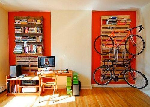 Как вписать велосипед в интерьер