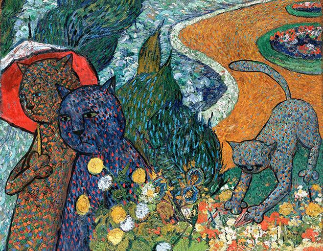 На выставке в Петербурге коты стали героями картин великих художников