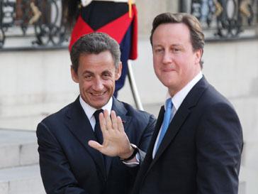Николя Саркози (Nicolas Sarkozy) и Дэвид Кэмерон (David Cameron)