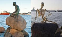 Скульптуру Русалочки в Копенгагене заменил скелет