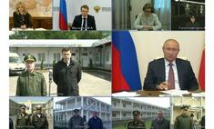 пародия совещание путина онлайн- назначением начальника госпиталя микрофоны
