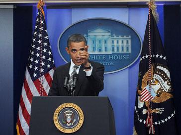 Барак Обама (Barak Obama) выступает против насильственной смены режима в Ливии