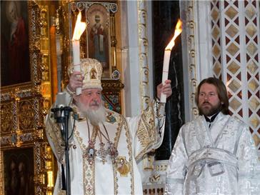 Пасха, храм Христа Спасителя, православие, религия