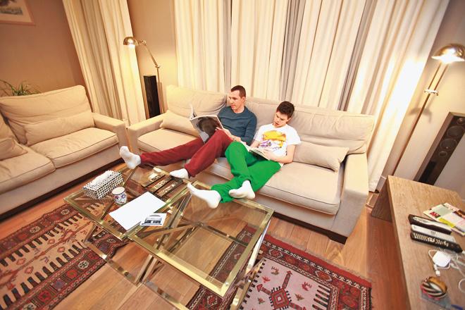 Игорь Верник с сыном Гришей