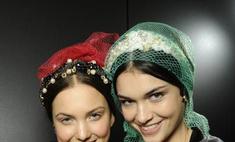 Украшения для волос: модные образы осени-2012