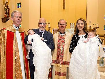 Селин Дион (Celine Dion) крестила сыновей в католической церкви