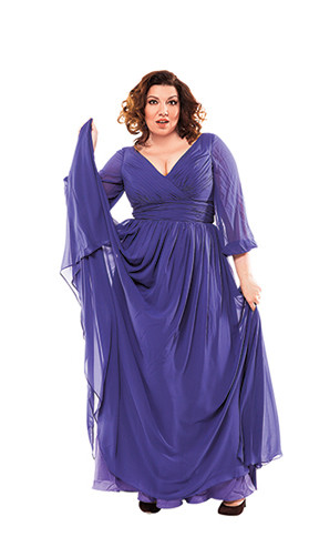 Скулкина примерила наряды для «вкусных» женщин