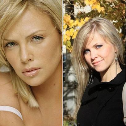 Вера Шолудько и Шарлиз Терон