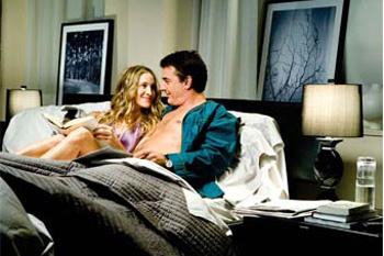 Кадр из фильма «Секс в большом городе»: Кэрри читает те самые «Любовные письма великих людей»