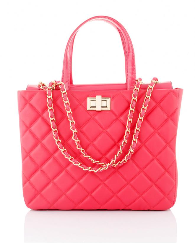 сумка кораллового цвета