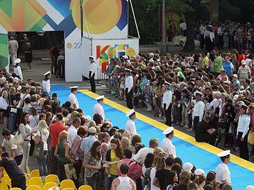 Ковровая дорожка фестиваля «Кинотавр-2011»