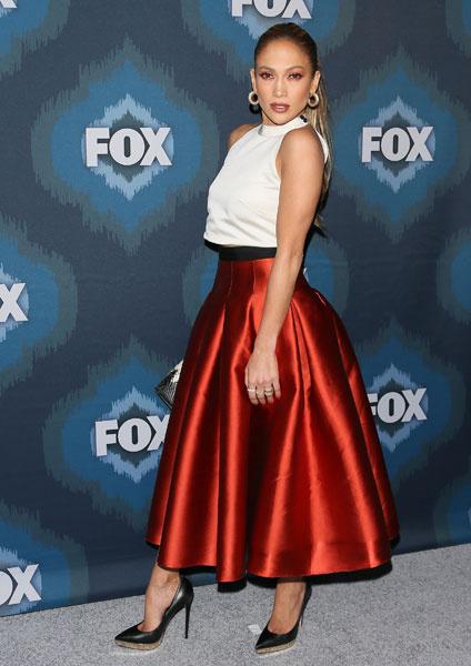 Дженнифер Лопес на пресс-конференции American Idol