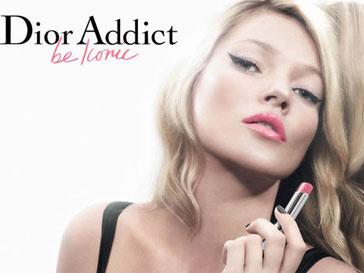 Помаду Dior Addict рекламирует легендарная Кейт Мосс (Kate Moss)
