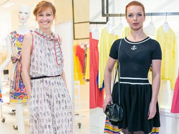 Ингеборга Дапкунайте и Алиса Гребенщикова на открытии бутика Red Valentino в ГУМе