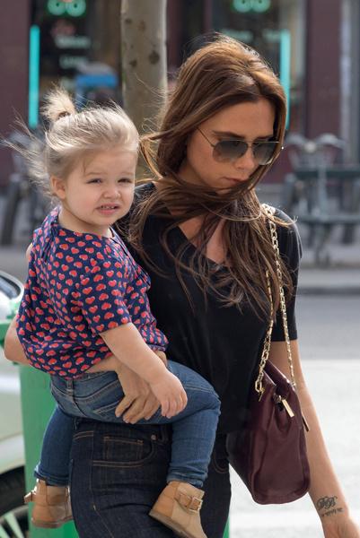 Виктория Бекхэм с дочкой Харпер Севен