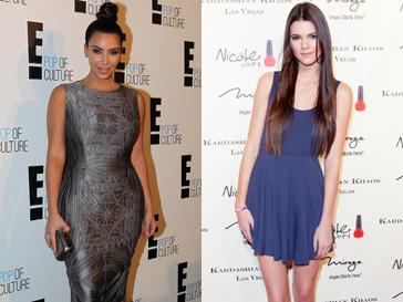 Ким Кардашьян (Kim Kardashian) и ее младшая сестра Кендалл Дженнер (Kendall Jenner)