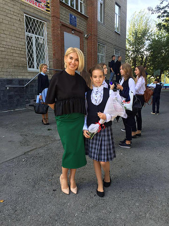 Юлия Зубрилкина с дочкой, фото