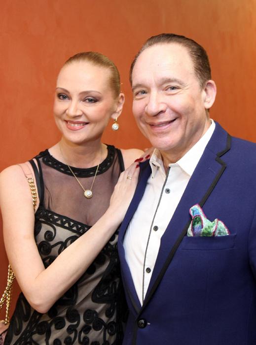 Максим Дунаевский с супругой Мариной