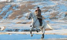 ким чен заехал коне священную гору фотографии обещают