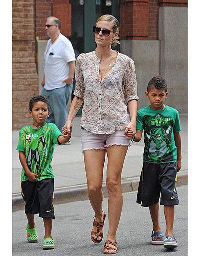 Хайди Клум (Heidi Klum) с сыновьями