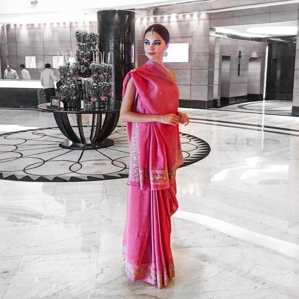 Обладательница титула «Самое красивое лицо мира» Алена Раева в Индии