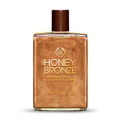 The Body Shop honey bronze shimmering dry oil