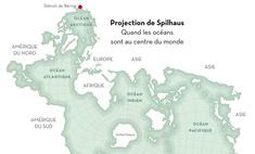 карта мира вывернутая наизнанку