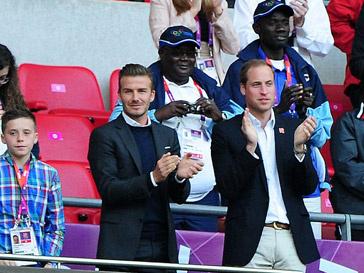 Дэвид Бекхэм (David Beckham) и принц Уильям (Prince William)