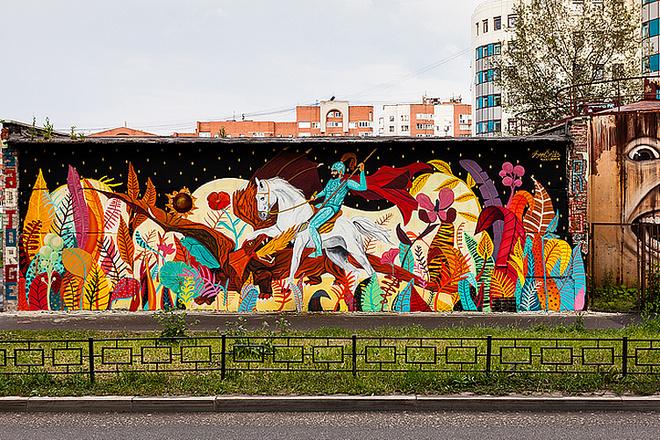 Картина «Георгий Победоносец», фестиваль «Стенограффия», фото