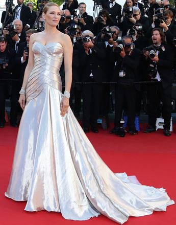 Ума Турман (Uma Thurman) на церемонии закрытия 66-го Каннского кинофестиваля