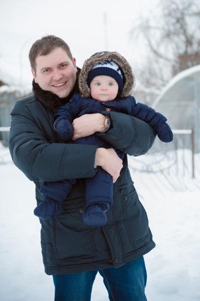 Михаил Карасев с сыном