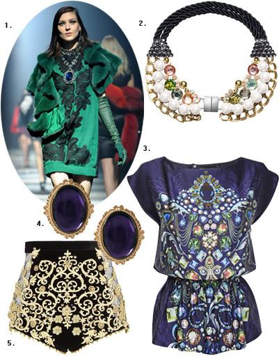 1. Lanvin; 2. воротничок H&M; 3. блуза Dorothy Perkins; 4. серьги Asos; 5. шорты River Island