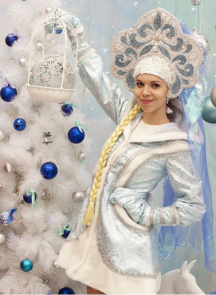 Ольга Ваулина в образе Снегурочки, фото