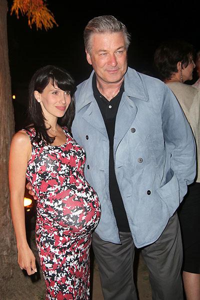 Алек Болдуин с женой, фото