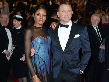 Наоми Харрис и Дэниэл Крейг на премьере фильма «007: Координаты «Скайфолл»